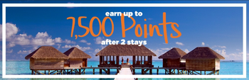 7500 Hilton Honors bonus points from two stays