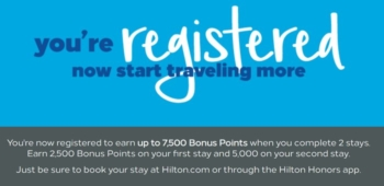 Hilton 7500 bonus points