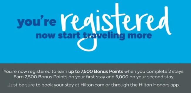 Hilton 7500 bonus points