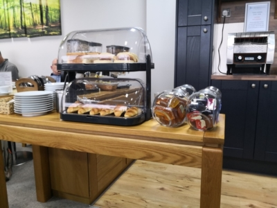 Norwich Executive Lounge pastries