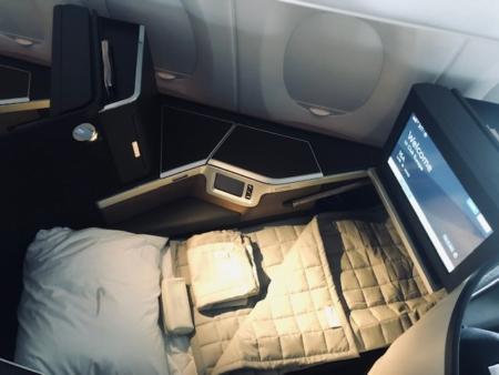 British Airways A350 Club Suite bed