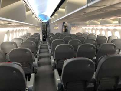 Norwegian Premium cabin rear