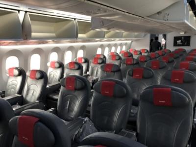 Norwegian Premium cabin front