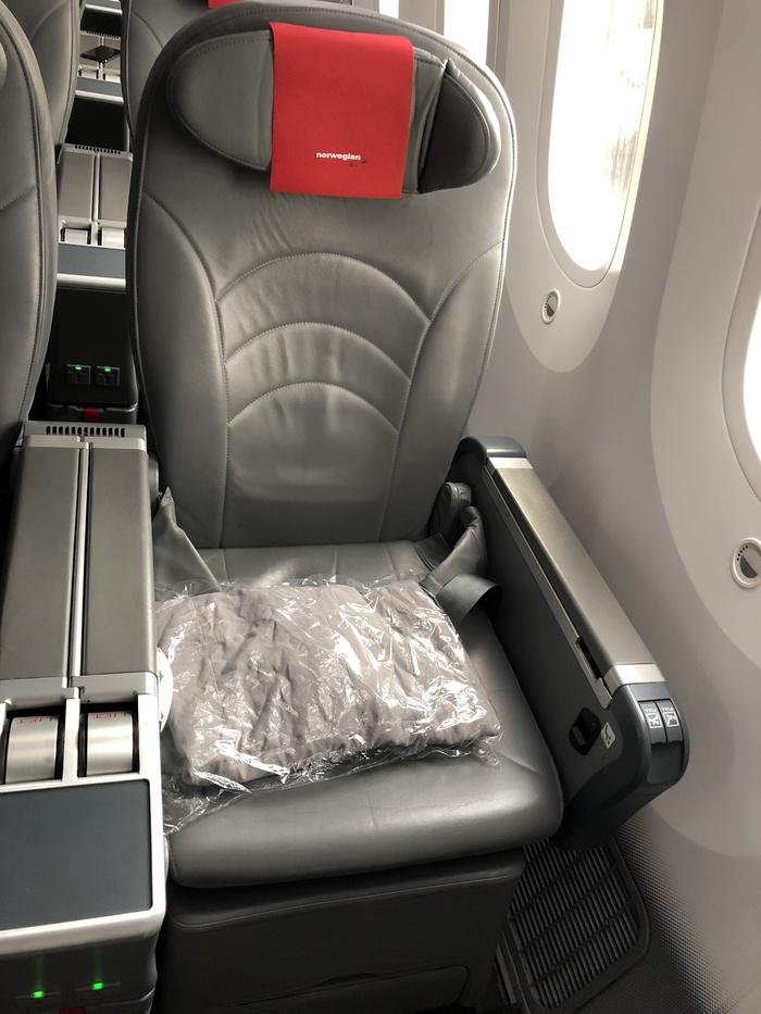 Norwegian Premium cabin seat