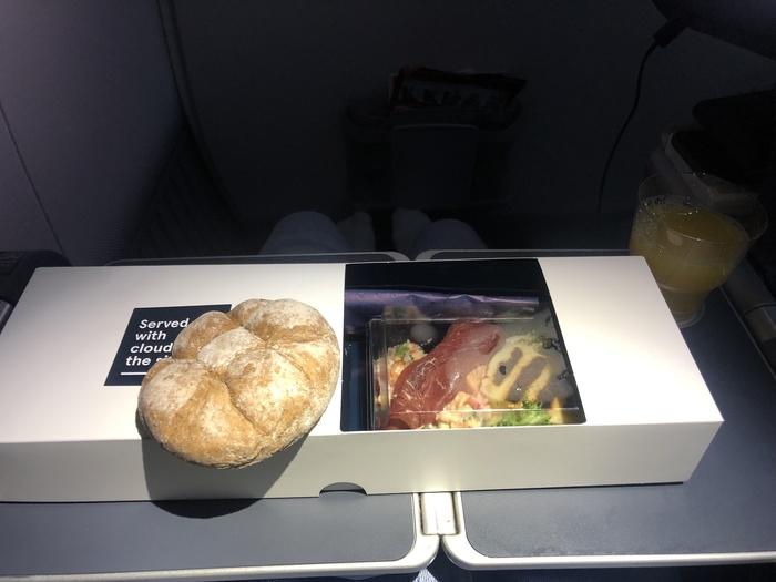Norwegian Premium second meal