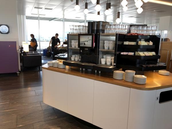 swiss business lounge zurich coffee station