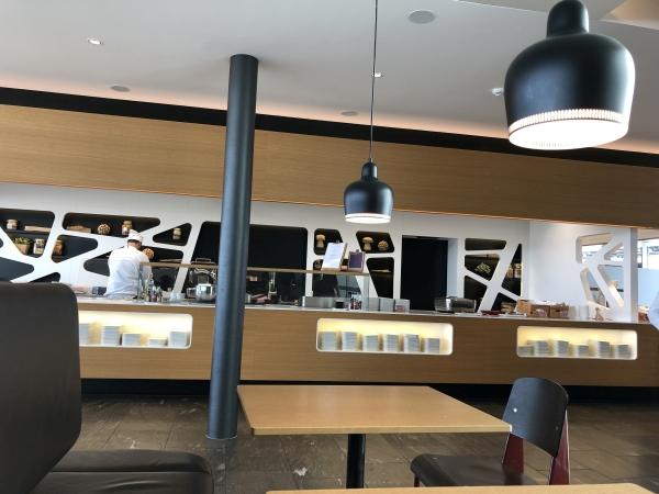 swiss business lounge zurich chef kitchen
