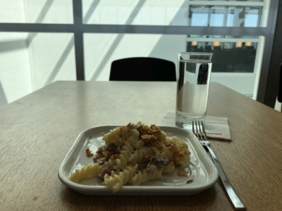 swiss business lounge zurich pasta