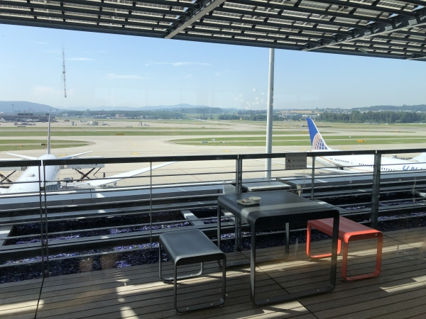 swiss business lounge zurich outdoor area