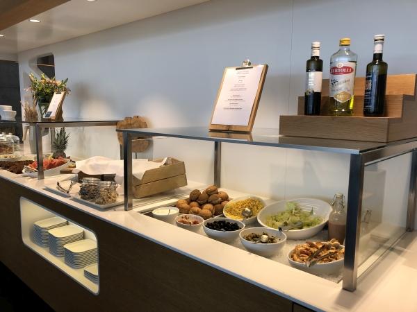 swiss business lounge zurich food