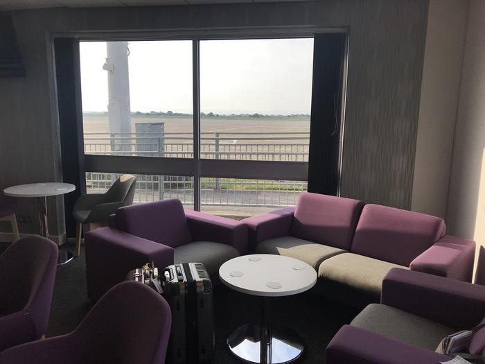 premium lounge teeside international airport view