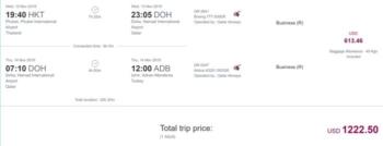 Qatar Airways Izmir deals