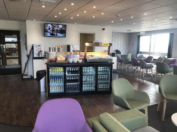 premium lounge teeside international airport buffet