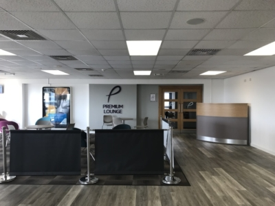 premium lounge teeside international airport entrance