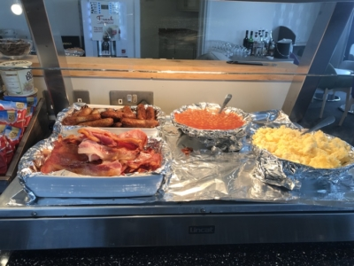 premium lounge teeside international airport hot buffet