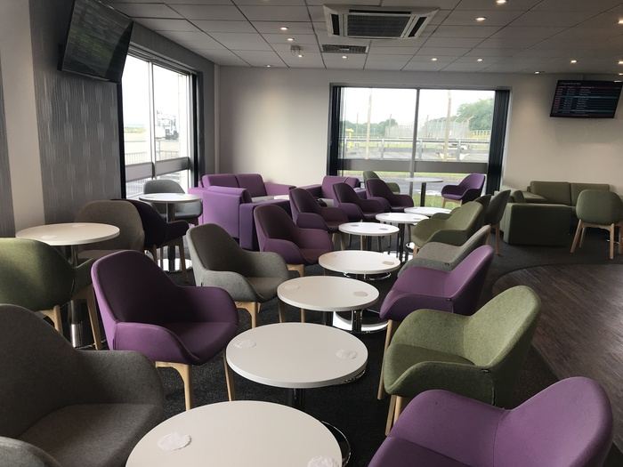 premium lounge teeside international airport seating