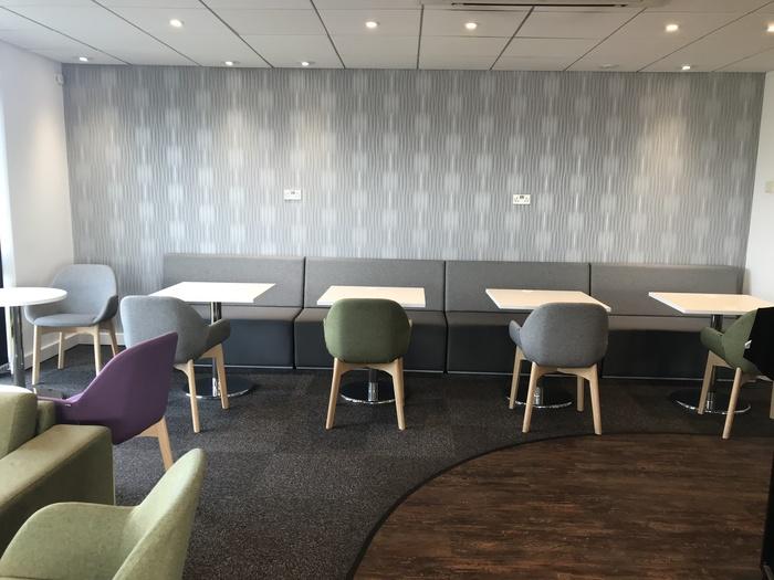 premium lounge teeside international airport tables