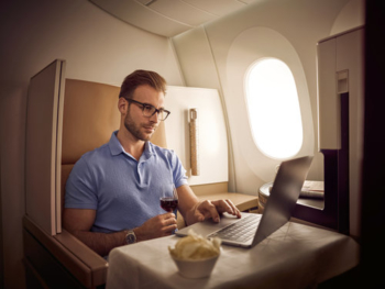 Etihad business class pr photo