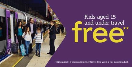 Kids travel free on heathrow express