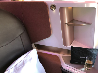 Virgin Atlantic new Upper Class A350 seat storage review