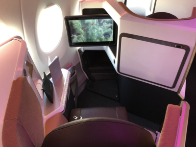 Virgin Atlantic new Upper Class A350 seat IFE