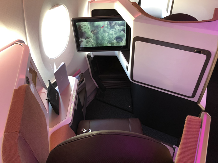 Virgin Atlantic new Upper Class A350 seat IFE