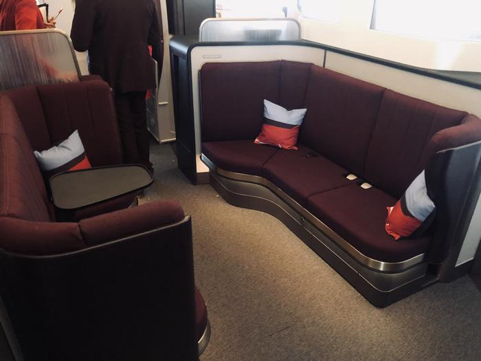 Virgin Atlantic new Upper Class A350 loft lounge review
