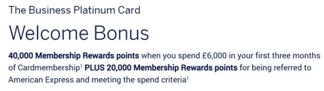 60,000 American Express Platinum Business
