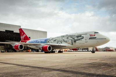 Virgin Atlantic Star Wars plane