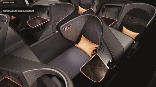 Turkish Airlines new business class seat on 787