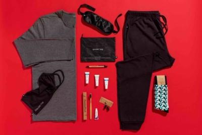 Virgin Atlantic sustainable Upper Class goodie bag amenity kit