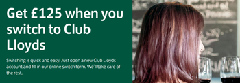 Club Lloyds £125 switching bonus