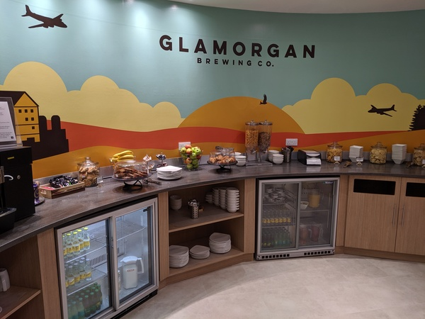 Executive Lounge Cardiff Airport food