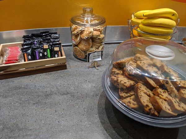 Executive Lounge Cardiff Airport snacks