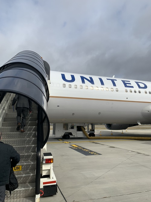 United Airlines Polaris business class London to New York Newark review
