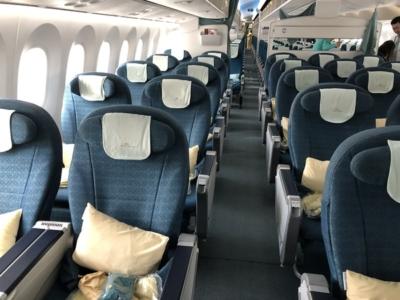 Vietnam Airlines premium economy cabin