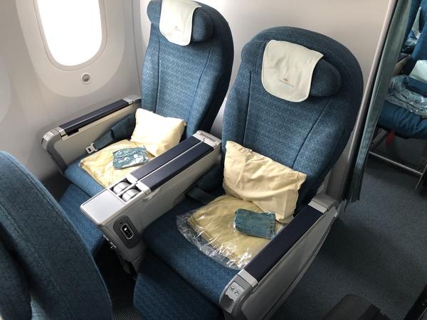 Vietnam Airlines premium economy seat