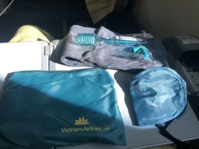 Vietnam Airlines premium economy amenity kit