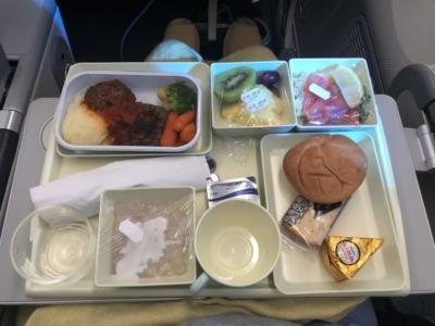 Vietnam Airlines premium economy lunch