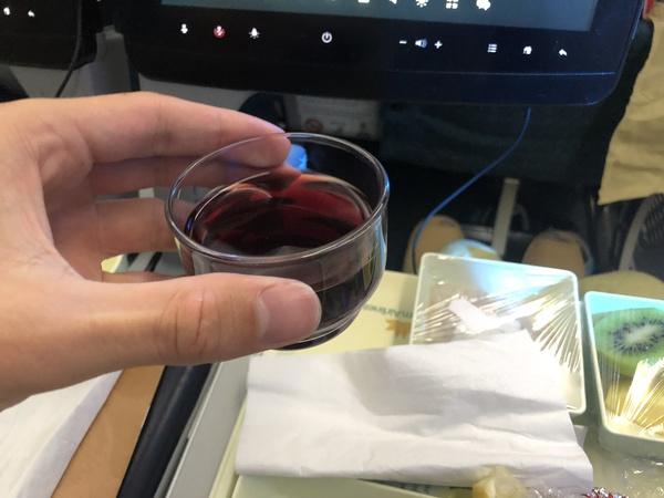 Vietnam Airlines premium economy wine