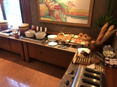 Hilton Hanoi Opera executive lounge buffet
