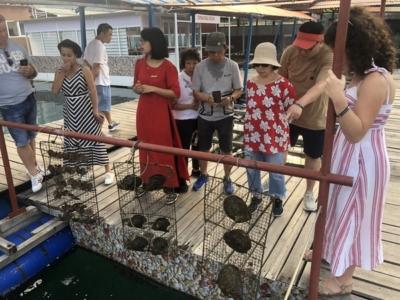 Paradise Cruises Halong Bay oyster farm