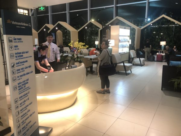 Vietnam Airlines Lotus Lounge reception