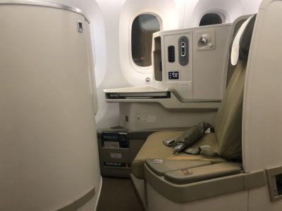Vietnam Airlines business class seat