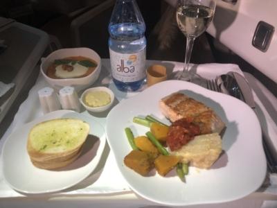 Vietnam Airlines business class dinner