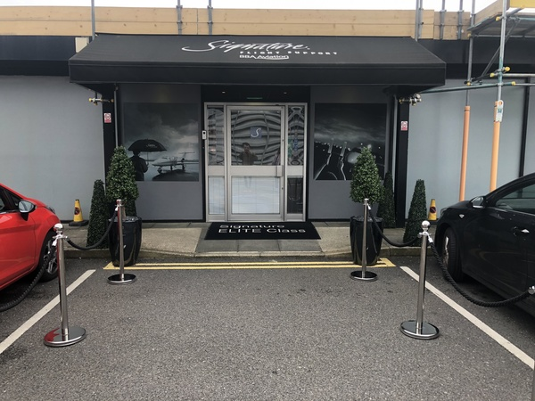 Signature Elite Class Gatwick Private jet terminal experience entrance