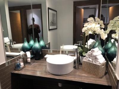 Signature Elite Class Gatwick Private jet terminal experience bathroom