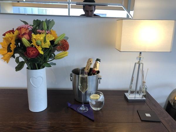 Signature Elite Class Gatwick Private jet terminal experience champagne