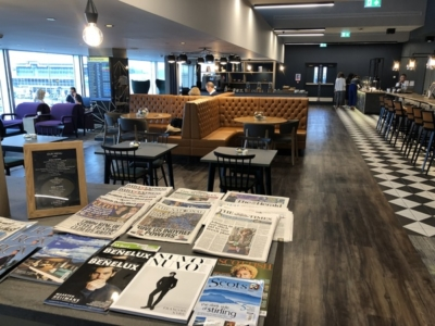 Lomond Lounge Glasgow Airport newspapers