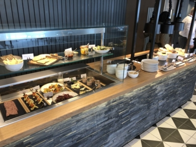 Lomond Lounge Glasgow Airport buffet